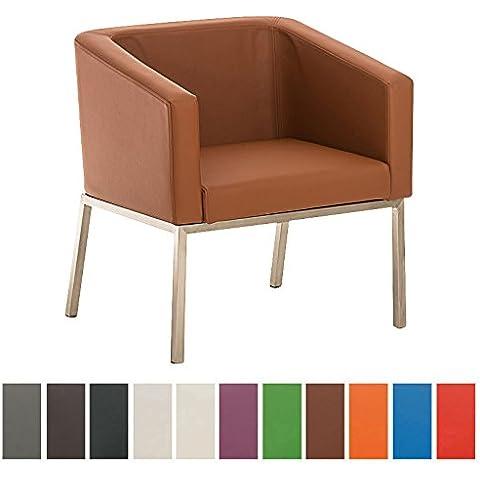 CLP Poltrona lounge in acciaio inox NALA in stile retró,
