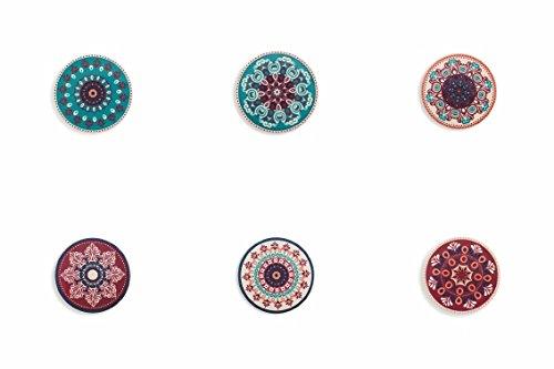 Villa d'Este Home Tivoli Shiraz Sottobicchieri, Ceramica, colori assortiti, 1 pezzo