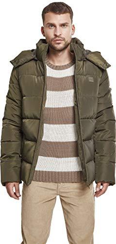 Urban Classics Herren Jacke Hooded Puffer Jacket, Darkolive, S - 3