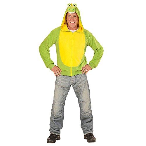 Imagen de widmann 07028–adultos disfraz cocodrilo, sudadera con capucha, verde, tamaño s/m alternativa