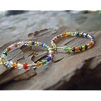 ✿ PEQUEÑAS CREENCIAS COLORIDAS DE SHAKIRA ✿ Pendientes y cuentas de vidrio