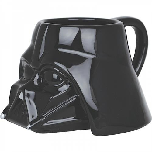 Star Wars MUGSSW01 Tasse, Keramik, Schwarz, 8 x 12 x 10 cm (Star Wars Darth Vader Becher)