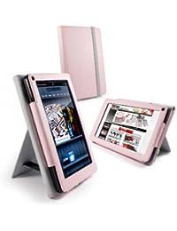 Tuff-Luv Bi-Stander Étui en simili cuir avec support pour Kindle Fire (non compatible avec le feu HD Rose