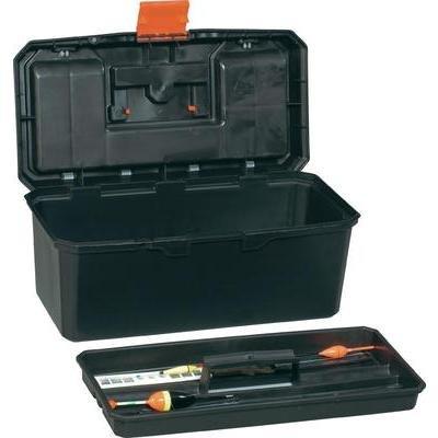 Preisvergleich Produktbild Alutec Werkzeugkasten unbestückt 56260 Kunststoff Schwarz, Orange