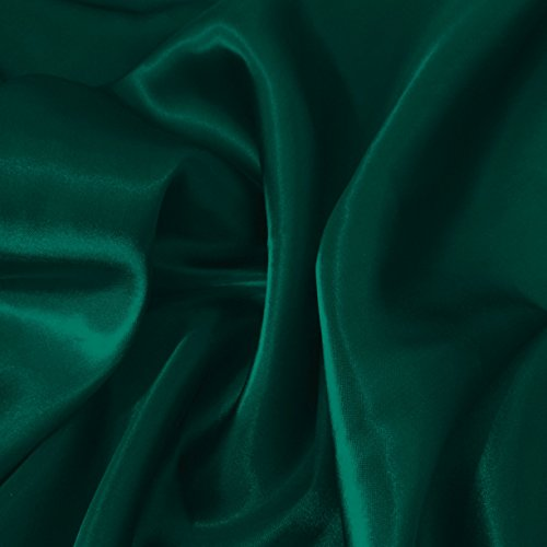 Discover Direct Blaugrün seidig Liquid Satin Stoff Luxus Kleid, Dance & Craft Stoff 150 cm...