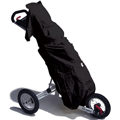 Seaforth Slicker DRH017-BLK - Carrito para palos de golf (incluye funda para lluvia)