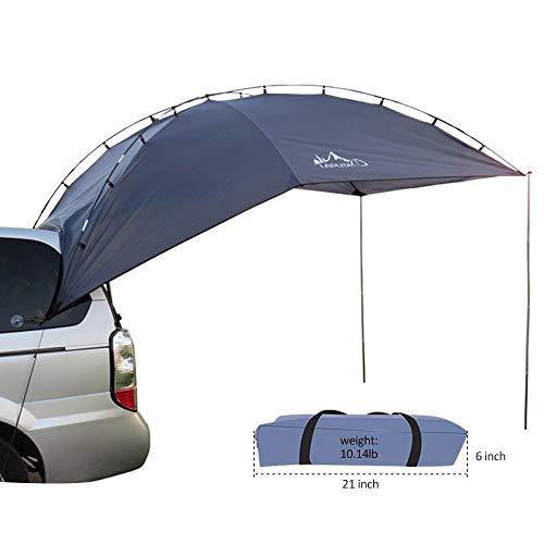 HUKOER Autokonto Outdoor Camping Camping Familie Auto Tail Konto Auto Seite Konto Zelte Heckklappe für das Auto, für Camping und Familie, Sommer Camping Zelt Schatten Zelt Auto Zelt 350 * 240 * 105 -