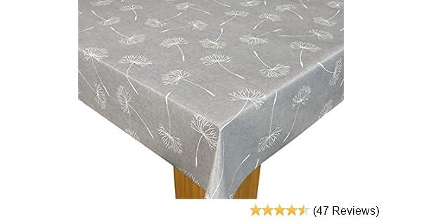 Karina Home Highland Stag Grey PVC Wipe Clean Tablecloth Round 138cm, Grey