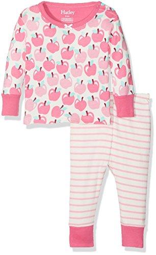 Hatley Baby-Mädchen 100% Organic Cotton Mini Pyjama Sets, White (Pony Orchard), 3-6 Monate