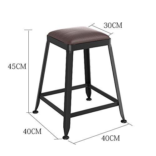 Stühle FEI Bequem Barhocker Küchenhocker Esszimmerstuhl Sitzender Industrieller Stil Stark und langlebig (Farbe : PU pad, größe : 65cm) -