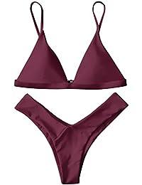 ZAFUL Damen Sport Push-Up Wickeln Bikini Sets Bademode Badeanzug Swimwear  Swimsuit 697a71e919