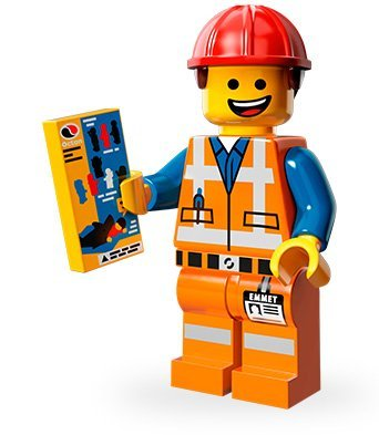 LEGO Minifiguren Movie Edition (Serie 12): Bauarbeiter Emmet (Bauarbeiter Figuren)