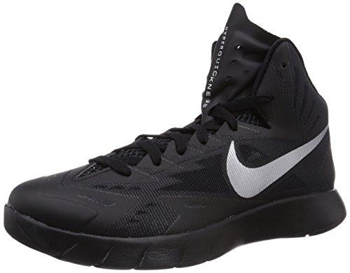Nike Nike Lunar Hyperquickness Basketballschuhe, Herren Basketballschuhe, Schwarz (BLACK/METALLIC SILVER), 42 (Nike Basketball-schuhe Männer Lunar)