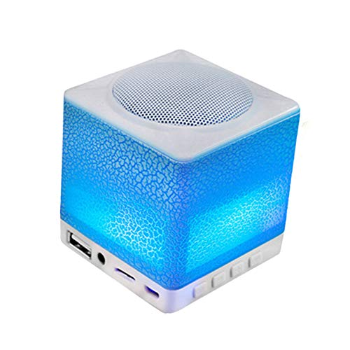 lose Bluetooth 4.0-Lautsprecher-Tischlampe mit Super Bass und HD-Sound, tragbarer Mini-Bluetooth-Nachtlicht-Lautsprecher, Micro SD-, AUX- und FM-Radio-Unterstützung ()