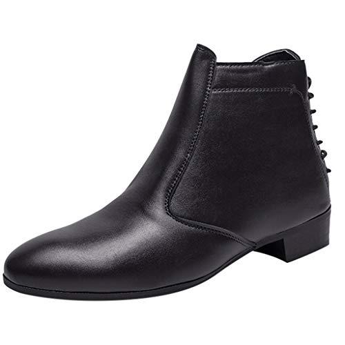 Lilicat Herrenschuh klassischer Business Halbschuh Mode Spitzen High-Top England Booties Casual Boots Glattleder Retro rutschfest Arbeitsschuhe Männlich Halbschuhe Oxford Schuhe