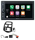 caraudio24 Sony XAV-AX200 Bluetooth 2DIN USB CD DVD MP3 Autoradio für Chevrolet Spark (ab 2013)