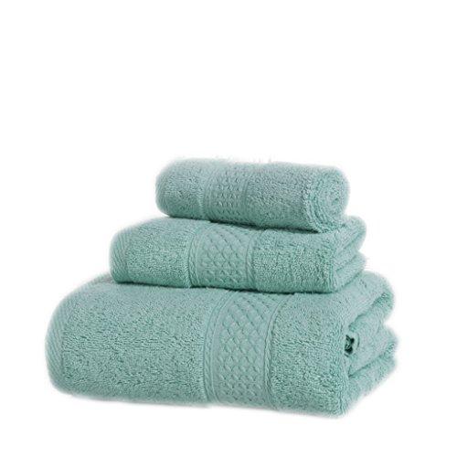 Set Asciugamani, Cotone, Più Colore, Confezione Da 3 ( Colore : 4#Grey ) 12#Olive green