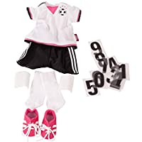 Gotz 3403054 Standing Doll Combo Soccer Girl - Size XL - Dolls Clothing / Accessory Set - Suitable For Standing Dolls Size XL (45 - 50 cm)