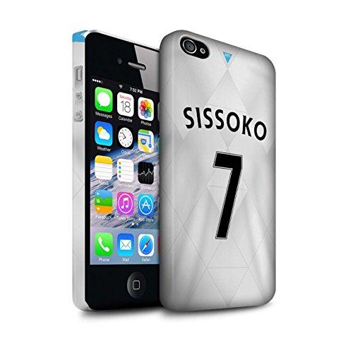 Offiziell Newcastle United FC Hülle / Matte Snap-On Case für Apple iPhone 4/4S / Tioté Muster / NUFC Trikot Away 15/16 Kollektion Sissoko