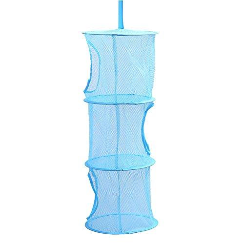 nadakin 3Fächern Mesh Storage Käfig, Mehrlagiges Wäschesack, zusammenklappbar, Organizer Hängekorb Tasche für Kinder Tiere Spielzeug (Tragbare Kleine Tier Käfig)
