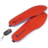 Ultrasport 380100000285 - Suelas térmicas sin cables con mando a distancia, color rojo