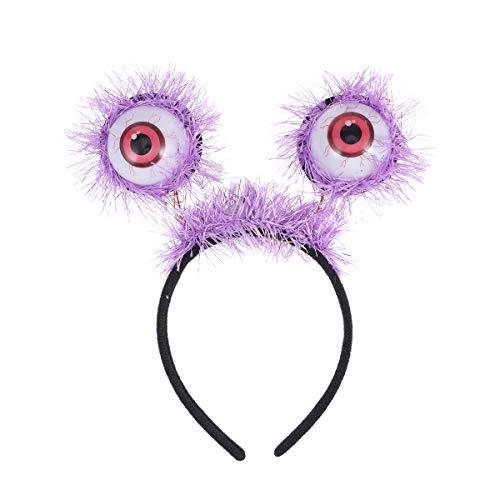 Glitzernden Kostüm - Amosfun Halloween Stirnband leuchtende Augäpfel Stirnband Horror glitzernden Augapfel Kopfschmuck Halloween Kostüme leuchten Haarband Kopfbedeckung Halloween Party Favors