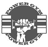 Wandtattoo Fitness Wandsticker Power Fitness Hantel mit Faust Sportmotiv zum Kl