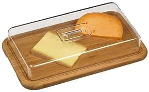DM Creation 00116 Cloche à Fromage Bambou/Acrylique 39 x 24 x 13 cm