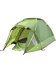 MoKo Wasserdichte Familienzelt Campingzelt, Portable 3 Person Outdoor Kuppelzelte, 4-Saison Double Layer Kuppel Zelt für Wandern, Rucksackreisen, Trekking, Bergsteigen, Strand, Grün