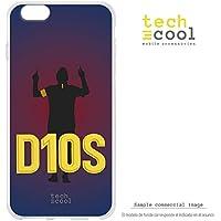 Funnytech® Funda Silicona para iPhone 6 Plus / 6S Plus [Gel Flexible Ultra Slim Gran Resistencia Diseño Exclusivo] Delantero Argentino Diseño 2 Letras