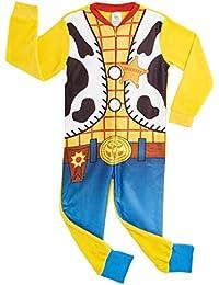 Disney Onesie para Niños | Mono Infantil con Personajes Woody Y Buzz Onesie Pijama para Niños | Mono PJ Todo En Uno para Niños | Regalo para Niños De 18 Meses A 6 Años (4/5 años, Woody)