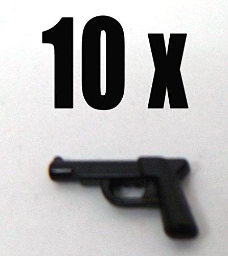 Modbrix 7632 - 10 x Pistole Walther P99 Custom Waffen Set für Lego Figuren thumbnail