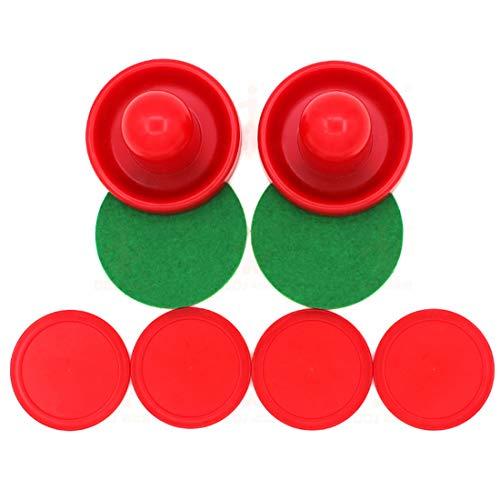 Carry stone Air Hockey Zubehör Tisch Hockey Zubehör Pucks und Drücker Zubehör für Spieltische (2 Stürmer, 4 Puck Pack)