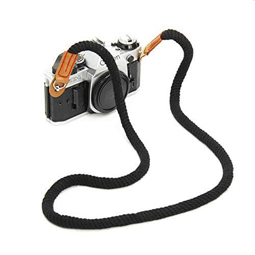 YJZQ Vintage Kameragurt Handgefertigt Schultergurt Bergsteiger Seil Baumwolle Digital Kamera Gurt Schulter Tragegurt Camera Strap für Leica Canon Nikon Fuji Olympus Lumix Sony. (Canon Alte Kamera)