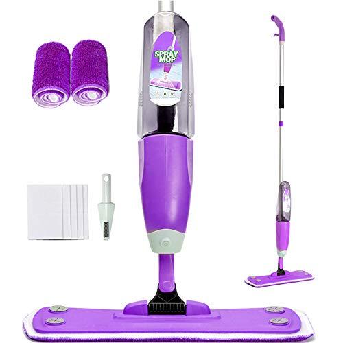 Joywell Bodenwischer mit Integriertem Zerstäuber, Spraywischer Spray Mop Set (Violett)