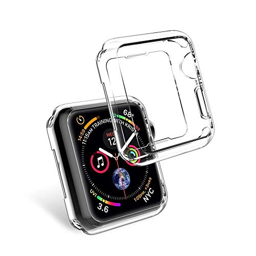 Vamoro HD Ultra Thin Soft TPU Cases Schutz Hülle TPU Displayschutzfolie Allround-Schutzhülle High Definition Transparent Ultradünne Hülle für Apple Watch 4 40mm(Clear)