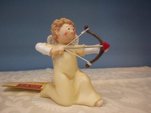 Gilde Schutzengel Engel mit Pfeil und Bogen Mitten ins Herz champagner