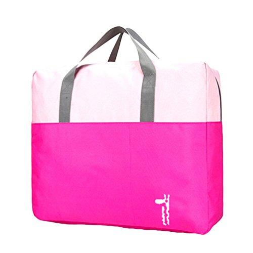 Dexinx Kleidertaschen-Set Leichtgewicht Wasserdicht Kleidertaschen Verpackungswürfel für Kinder Steppdecke Organizer Rose 47 * 40 * 25CM