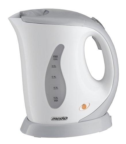 Mesko MS1236R Wasserkocher, 760 W, 0,6 l, Kunststoff, Weiß/Grau