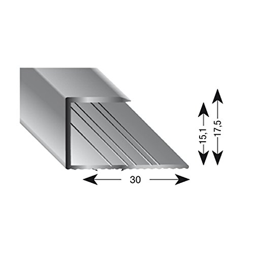 Kügele 11150 S 100 Gleitabschlussprofil U Alu silber eloxiert 15/1000 mm