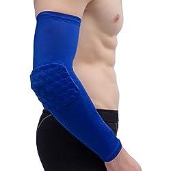asdomo 1Sport Arm PADS Elbow Guard Bandage Unterstützung Sleeve UV-Arm Gelenk Schutz für Basketball Gym, blau
