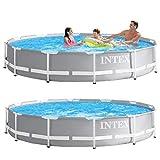 INTEX kit piscine Prism Frame ronde tubulaire 3m66 x 76cm