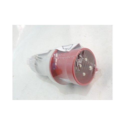 Scame 213.1636P Conector Eléctrico, 415 V, Rojo