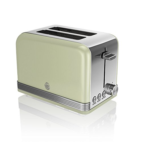 Swan ST19010GN 2-Slice Retro Toaster, 815 W, Green