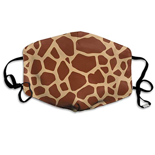 Giraffe Womens Licht (WBinHua Masken für Erwachsene, Mask Face, Mouth Mask, Breathable Mask Anti Dust, Unisex Giraffe Printed Cotton Mouth-Masks Face Mask Polyester Anti-dust Masks)