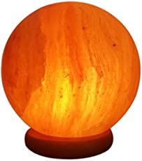 Toygully Round Shape Himalyan Salt Table Lamp For Healing, Harmony, and Purification - Color and shape may vary