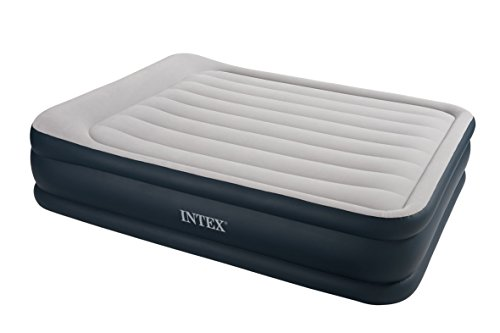 Intex Luftbett Deluxe Pillow grey-blue Queen (230 V), grau, 152 x 203 x 43 cm -