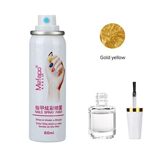 Nagellack Spray , Yogogo Fundament Schicht Nail Lack Set Quick Dry Nails (L)