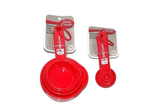 betty-crocker-measuring-cups-spoons-red-plastic-8-pc-set-by-betty-crocker