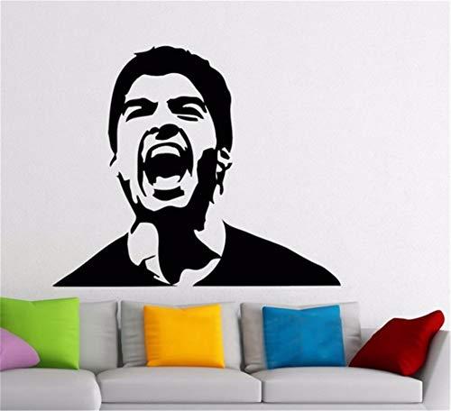 Adesivo murale frasi luis suarez famoso calciatore decalcomania soggiorno sport decor dormitorio bar